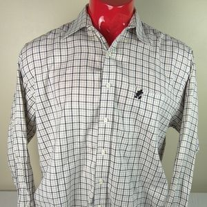 Disney World Plaid Mickey Mouse Plaid Button Up